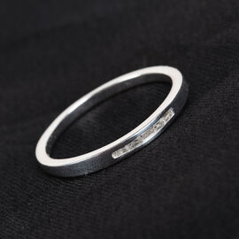 One Time Deal- Diamond Band Ring in Sterling Silver