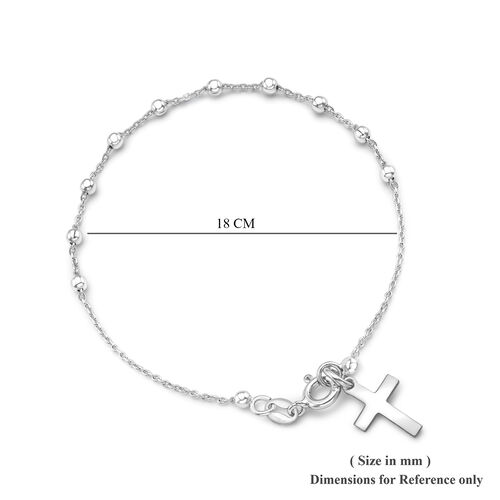Sterling Silver Ball Rosary Bangle (Size 7.25)