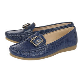 Lotus Cory Slip-On Loafers in Navy Colour