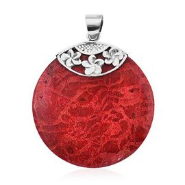 Royal Bali Collection - Red Sponge Coral Pendant in Sterling Silver