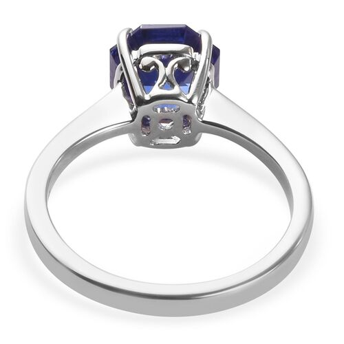 Signature Collection RHAPSODY 2.70 Ct AAAA Tanzanite Solitaire Ring in 950 Platinum