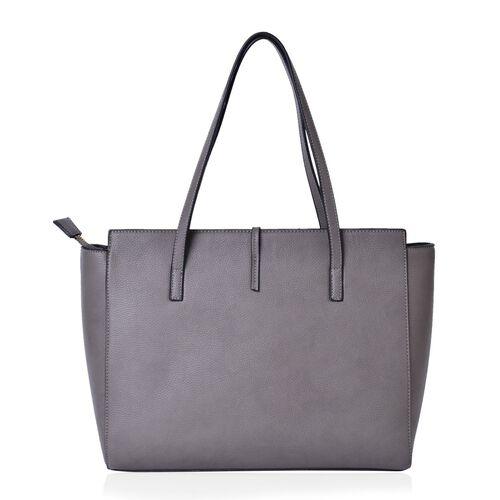 Grey Colour City Carryall Weekend Tote Bag (Size 42x35x28x13 Cm)