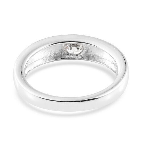 J Francis - Sterling Silver (Rnd) Band Ring Made with SWAROVSKI ZIRCONIA