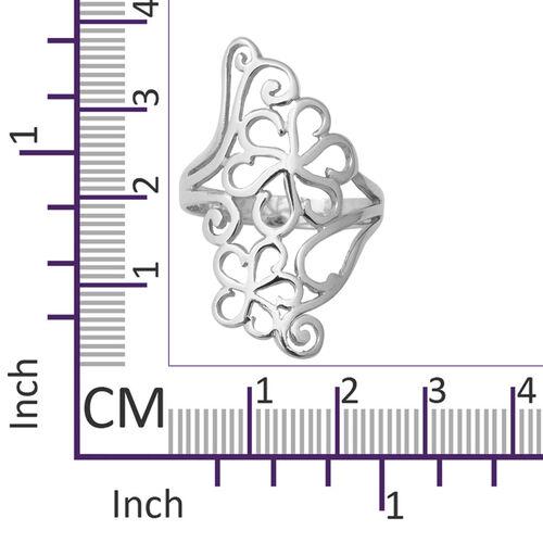 Designer Inspired- Sterling Silver Floral Ring