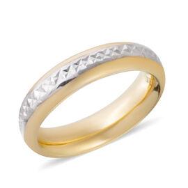 Ottoman Treasure Collection- 9K Yellow Gold Diamond Cut Band Ring Gold Wt 1.85 Grams
