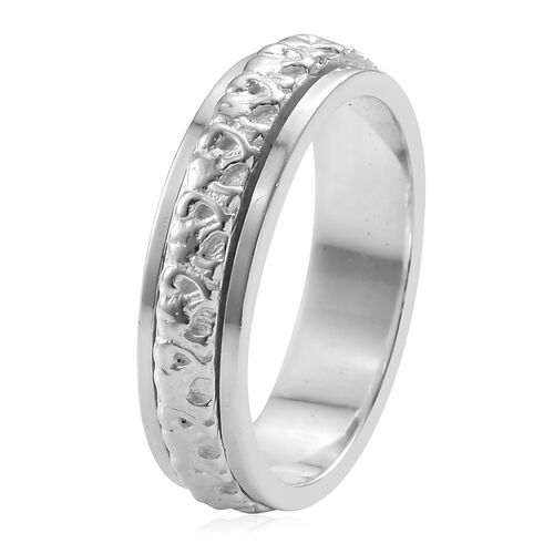 Sterling Silver Band Ring, Silver wt 5.84 Gms.