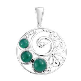 2.75 Ct Peacock Design Pendant in Sterling Silver 4.05 Grams