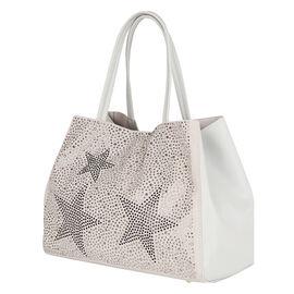 2 Piece Set - Kris Ana Star Tote Bag & Wash Bag - Grey