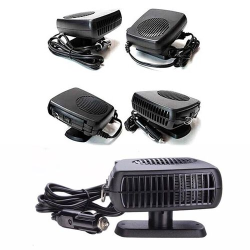 2 in 1 Portable Auto Heater Fan with Cooling & Heating Function (Size 14x12x7.5 Cm) - Black
