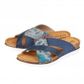 Lotus Ravenna Reptile Print Mule Ladies Sandals in Navy (Size 4)