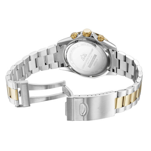 CHRISTOPHE DUCHAMP Grand Mont Silver & Gold Watch with Black Dial