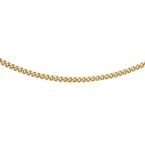 Hatton Garden Close Out 9K Yellow Gold Curb Necklace (Size 18)