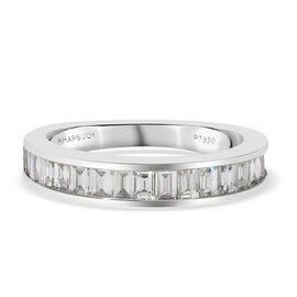 Super Find - RHAPSODY 950 Platinum IGI Certified Diamond (VS/E-F) Band Ring 1.00 Ct, Platinum wt. 4.