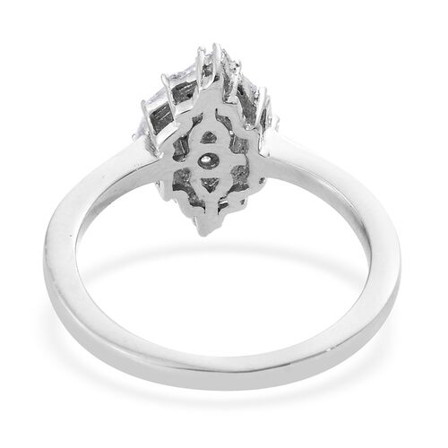 Designer Inspired- Fireworks Diamond (Rnd) Ring in Platinum Overlay Sterling Silver 0.330 Ct.