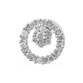 9K W Gold SGL CERTIFIED Diamond (Rnd) (I3/G-H) Pendant 0.250 Ct.
