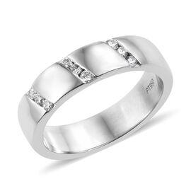 RHAPSODY 950 Platinum IGI Certified Diamond (Rnd) (VS/E-F) Ring  0.180 Ct.
