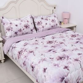 4 Piece Set - Soft and Warm Luxury Duvet Set (1 Duvet, 1 Fitted Sheet DOUBLE Size and 2 Pillow Cases