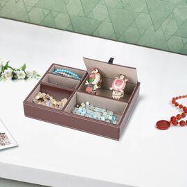New Arrival- Mens Accessories/Jewellery Organizer (Size 25.6x18.6x5cm) - Brown