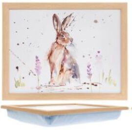 Country Life Hare Laptray with Cushioned Bean Bag (Size 44x34cm)