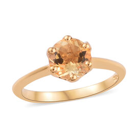 Brazilian Citrine (1.25 Ct) 14K Gold Overlay Sterling Silver Ring  1.250  Ct.