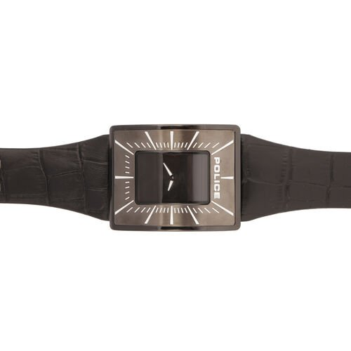 Black Dial Vintage Watch with Black Strap