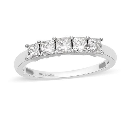 ILIANA Diamond (1.00 Ct) 18K W Gold Ring  1.000  Ct.