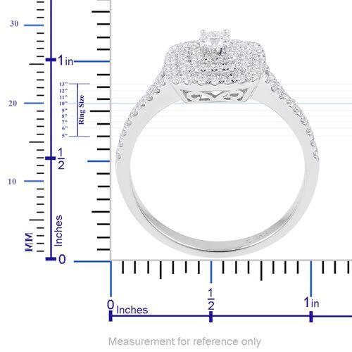 ILIANA 18K White Gold IGI Certified 0.75 Ct Diamond (SI/G-H) Engagement Ring
