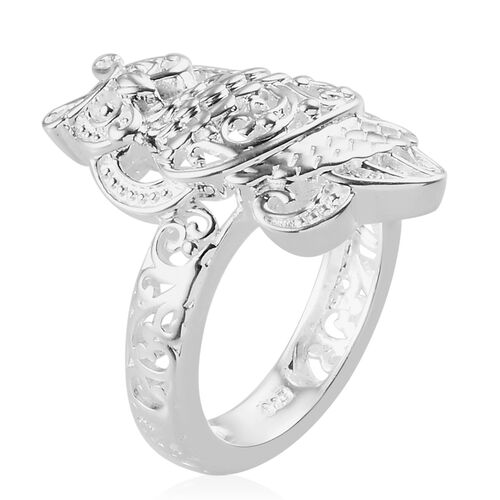 Sterling Silver Owl Ring, Silver wt 4.80 Gms