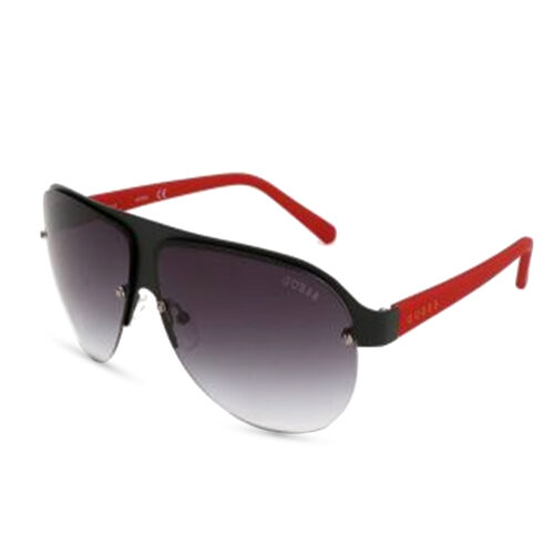 GUESS Semi-Rimless Sunglasses with Grey Lenses