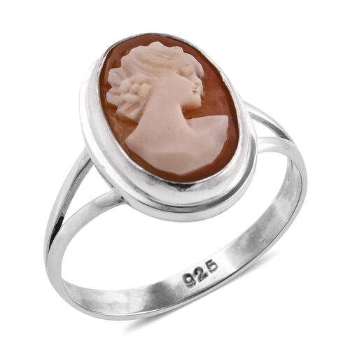 Royal Bali Collection Cameo (Ovl 14x10 mm) Ring in Sterling Silver 2.750 Ct.