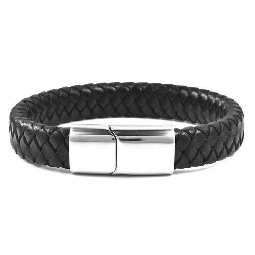 Genuine Braided Leather Bracelet (Size 8)