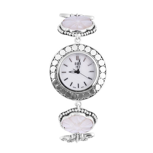 Royal Bali Collection - EON 1962 Swiss Movement Water Resistant Carved Mother of Pearl and Butterfly