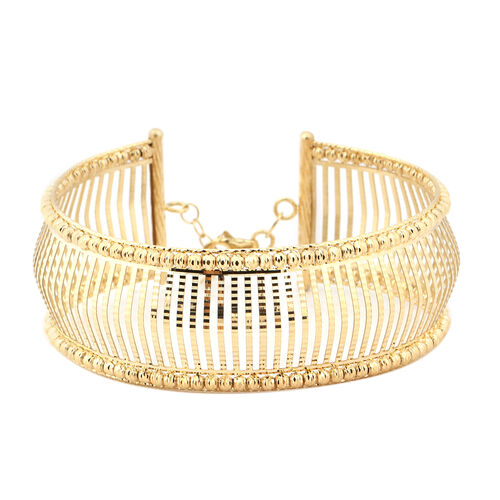 Italian Made- 9K Yellow Gold Bangle (Size 7 with 1 inch Extender), Gold Wt. 13.08 Gms