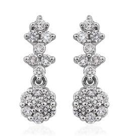 RHAPSODY 950 Platinum IGI Certified Diamond (VS/E-F) Floral Earrings 0.50 Ct.