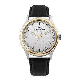 Ben Sherman London Mens Silver Dial Watch with Black Colour Strap