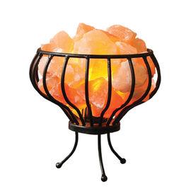 Himalayan Salt Crystal Chunks Lamp With Metal Basket (Size 18x7 Cm) (Including E14/220V/15W Bulb)