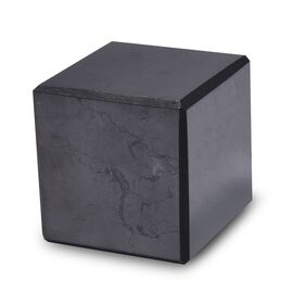 Home Decor - Cube Shape Shungite (Size 4.4x4.4 Cm) 1020.00 Ct