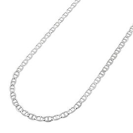 Vicenza Collection Sterling Silver Mariner Link Necklace (Size 30)