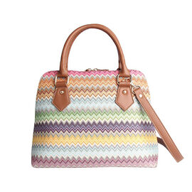 Signare Tapestry Pug Convertible Aztec Shoulder Bag with Removable Strap Size 36x23x12.5 Cms