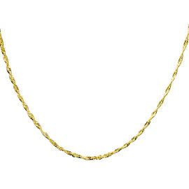 Vicenza Collection Singapore Necklace in 9K Gold 18 Inch