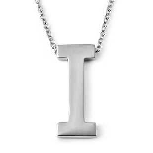 Initial I Necklace (Size - 20) in Stainless Steel
