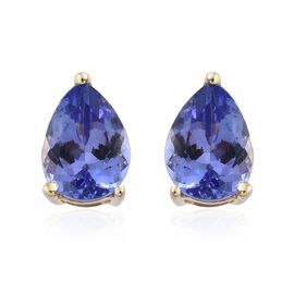 1.50 Ct AA Tanzanite Stud Earrings in 9K Gold (with Push Back)