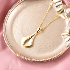 RACHEL GALLEY Yellow Gold Overlay Sterling Silver Pendant With Chain (Size 18/24/30), Silver wt 11.77 Gms