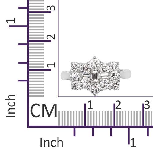 RHAPSODY 950 Platinum IGI Certified Natural Diamond (VS/E-F) Boat Ring 1.00 Ct