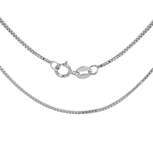 RHAPSODY 950 Platinum Box Venetian Chain (Size 18)