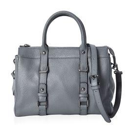 100% Genuine Leather Tote Bag (Size 29x13x21 Cm) - Grey