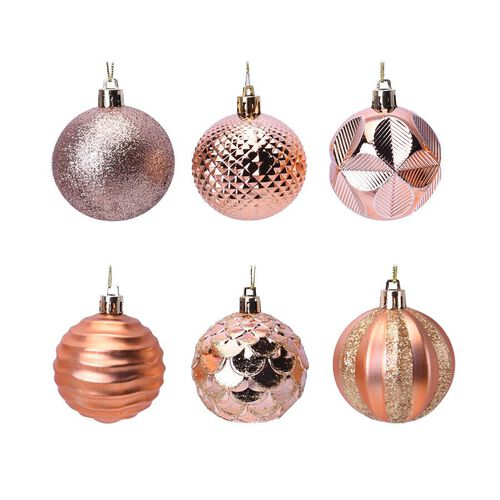 12 Piece Set Christmas Decoration Balls (Size 5.5mm) in the Gift Box - Orange