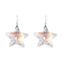 Simulated Mercury Mystic Topaz Star Earrings in Rhodium Overlay Sterling Silver