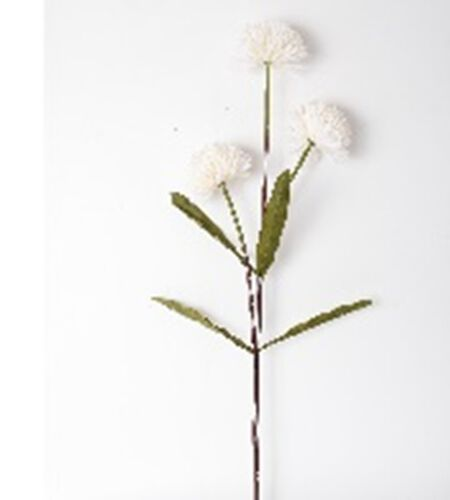 Set of 2 Branches White Dahlia Artificial Flowers (Total 6 Flowers)