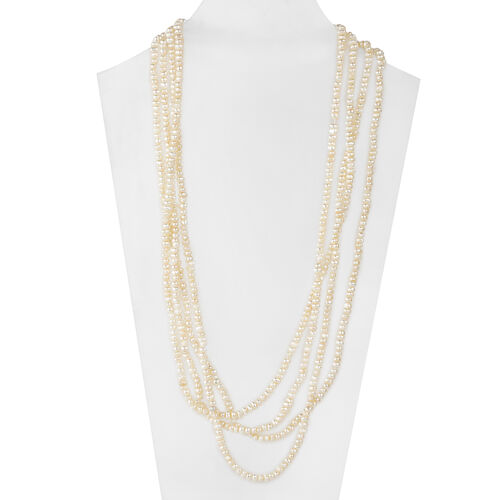 One Time Deal- Organic Micro White Pearl Necklace (Size 100)